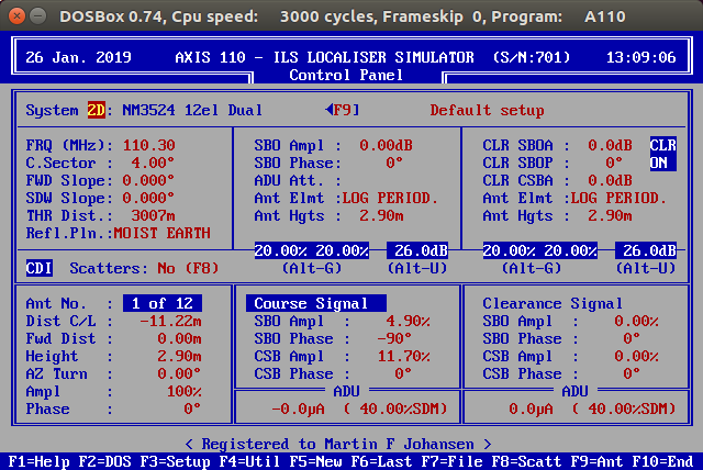 AXIS 110 old textual UI